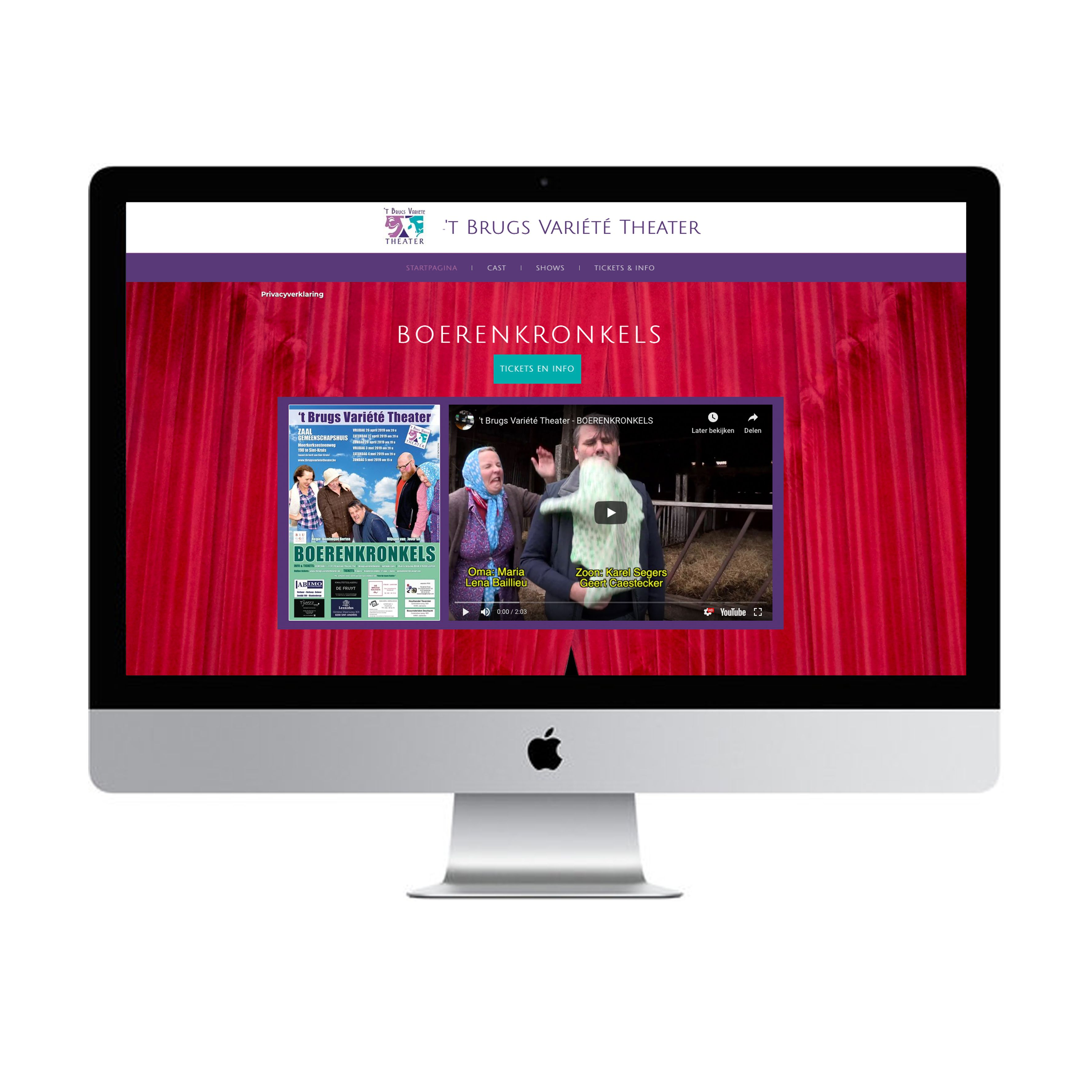 website 't brugs variéte theater